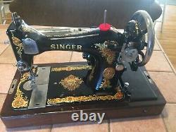 Machine À Coudre Vintage Singer 1925 Modèle 128-13 En Très Bel État