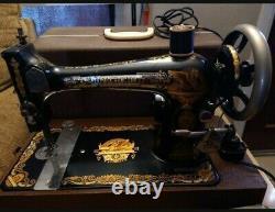 Machine À Coudre Working Vintage Singer Des Années 1800 Complète Dans Un Boîtier Original