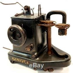 Maquina De Coser Singer 46k26 Antique Industrielle Gants Et Machine En Cuir Couture