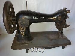 Rare 1912 Industrielle 45 Ksv 3 Chanteur Machine À Coudre Spécial Cuir De La Variété Spéciale