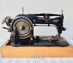 Rare 1929 Singer 68-7 Lock Stitch Button Tête De Machine À Coudre Industrielle