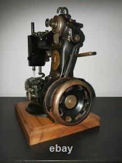 Rare Antique 1921 Chanteur 25-56 Tresse Modiste Machine À Coudre