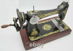 Rare Antique Singer Machine À Coudre Main Manivelle 27k 1912 Sphinx Décalcomanies De Travail