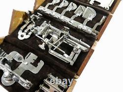 Rarecomplete! Style 3 Pour Vs2 Antique Singer Machine À Coudre 1889 Oak Puzzle Box