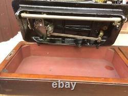 Singer 127k Antique Mainkrank Machine À Coudre Pour Cuir, Toile, Satin, Denim