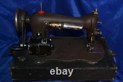 Singer 15 Classe Fiddle Corps Crinkle Machine À Coudre Desservie 1886 60 Jour Garantie