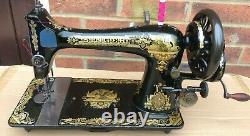 Singer 27k Antique/vintage Machine À Coudre, Pour Cuir