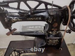 Singer 29-4 Revolving Pied En Cuir Cobbler Shoe Patch Treadle Machine À Coudre