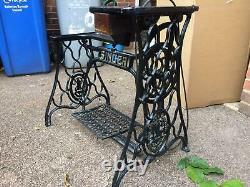Singer 29k Cylindre Arm Leather Patcher Industrial Sewing Machine Stand/base