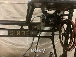 Singer 29k73 Long Bras Chaussures Patching En Cuir Sewing Machine Stand Electric Motor
