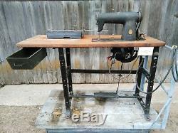 Singer 400w1 Antique Machine À Coudre Industrielle Avec Support