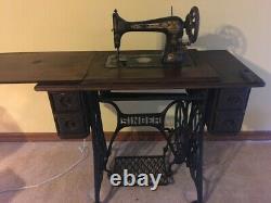 Singer Antique Treadle Machine À Coudre 1906