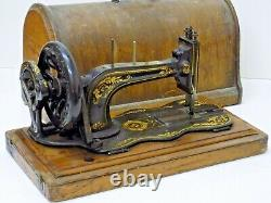 Singer Fiddle Base Sewing Machine Hand Crane Antique Collectionnable