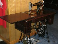 Singer Treadle Machine À Coudre Avec Cabinet Début 1900