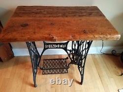 Tableau Vintage Singer Sewing Machines Régénérés En Bois De Grange De Bureau