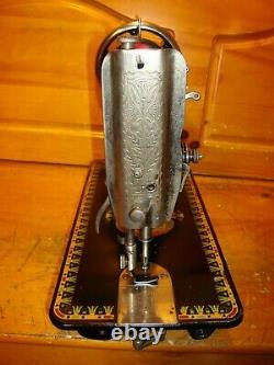 Tête De La Machine À Coudre Antique Modèle 66'lotus', Avec Service, #h109764