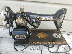 Vintage 1910 Chanteur Red Eye Machine À Coudre Avec Le Pied Pedalserial G6588045