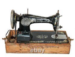 Vintage 1919 Chanteur G6616622 Machine À Coudre De Travail Moteur / Pédale Et Lumière