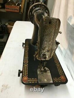 Vintage Antique Années 1900 Singer Cast Iron Industrial Couture Machine Tête Seulement