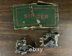 Vintage Antique Singer Machine À Coudre Lourde 1937 Avec Lumière