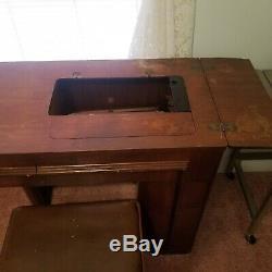 Vintage Chanteur Art Déco Streamline Couture Cabinet Original Chaise Bench
