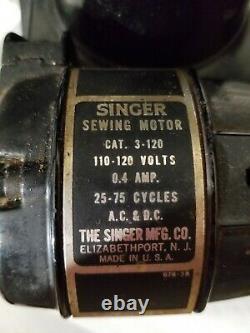 Vintage Chanteur Plume Poids 221 Machine À Coudre Antique Authentique
