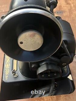 Vintage Electric Antique Singer Machine À Coudre 66-16 Aiguilles Manuelles De Banc De Table