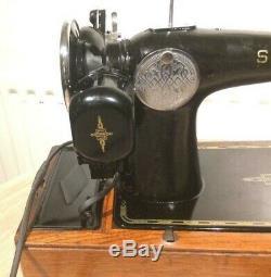 Vintage Électrique Chanteur 201k-2 Machine À Coudre Avec Moteur Potted