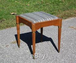 Vintage Milieu Du Siècle Moderne Rocketeer Singer Sewing Tabouret Vanity Chair Repose-pieds
