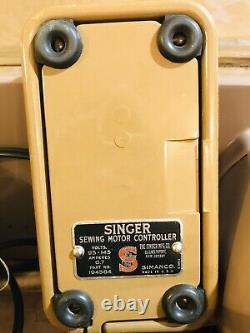 Vintage Singer 301a Coque Originale De La Machine À Coudre 1957 Nb103346 Fonctionne