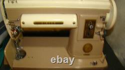 Vintage Singer 301a Machine À Coudre Nice Condition, Boîtier Original S/nb024086