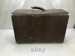 Vintage Singer Machine À Coudre 201k Cas De Travail Électrique Cheney