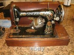 Vintage Singer Machine À Coudre Vers 1919 Modèle #66