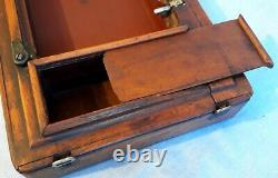 Vtg 1913 Singer Sewing Machine Bentwood Case 3/4 Taille 99 185 192 Spartiate & Clé