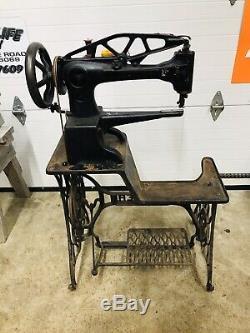Vtg Chanteur 29-4 Industrial Heavy Duty Cobbler Cuir Treadle Machine À Coudre
