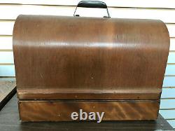 Working Antique Singer 99k Electric Portable Couture Machine+bentwood Case